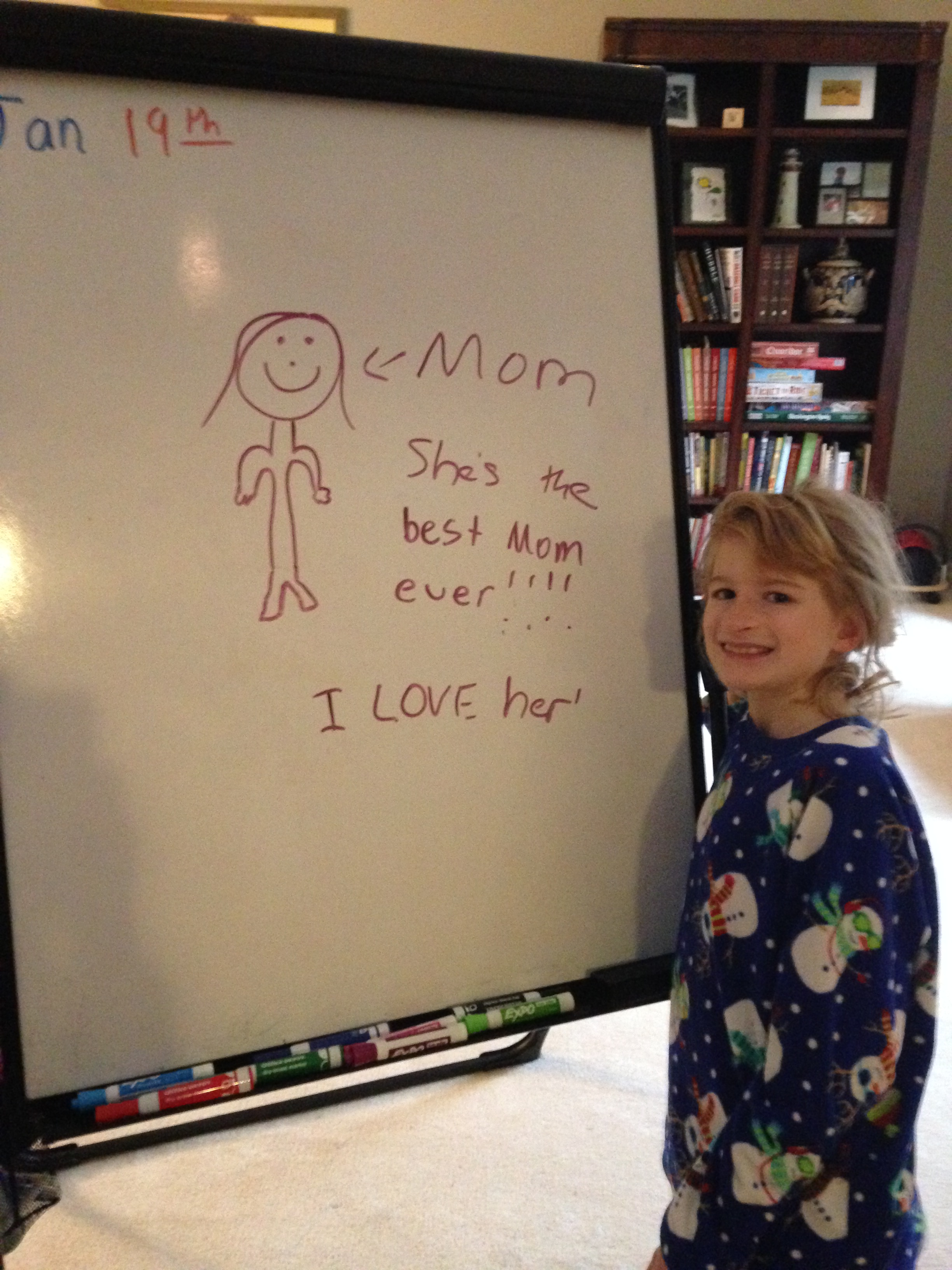 Natalie Loves her White Board