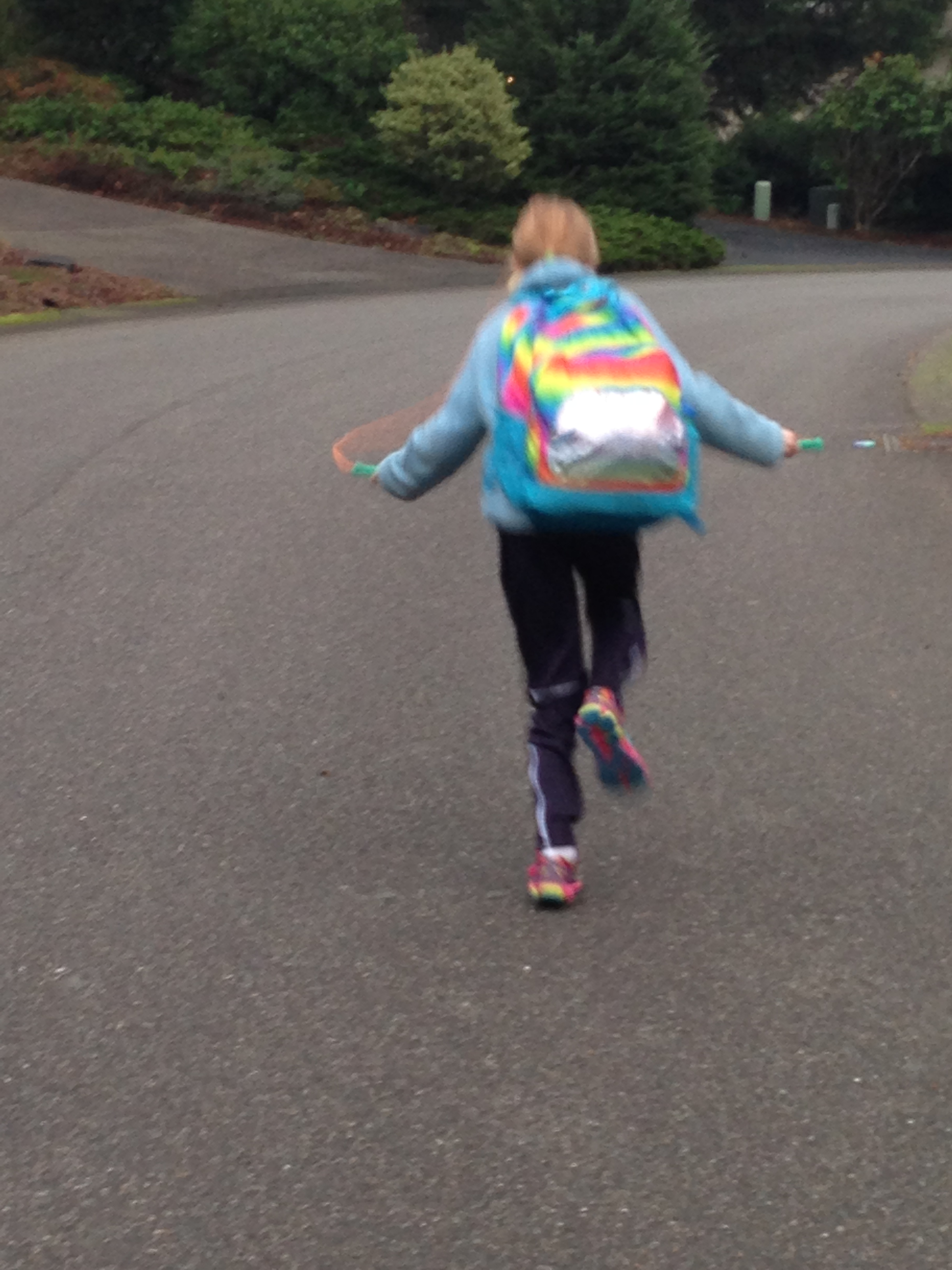 Jump Roping to the Bus