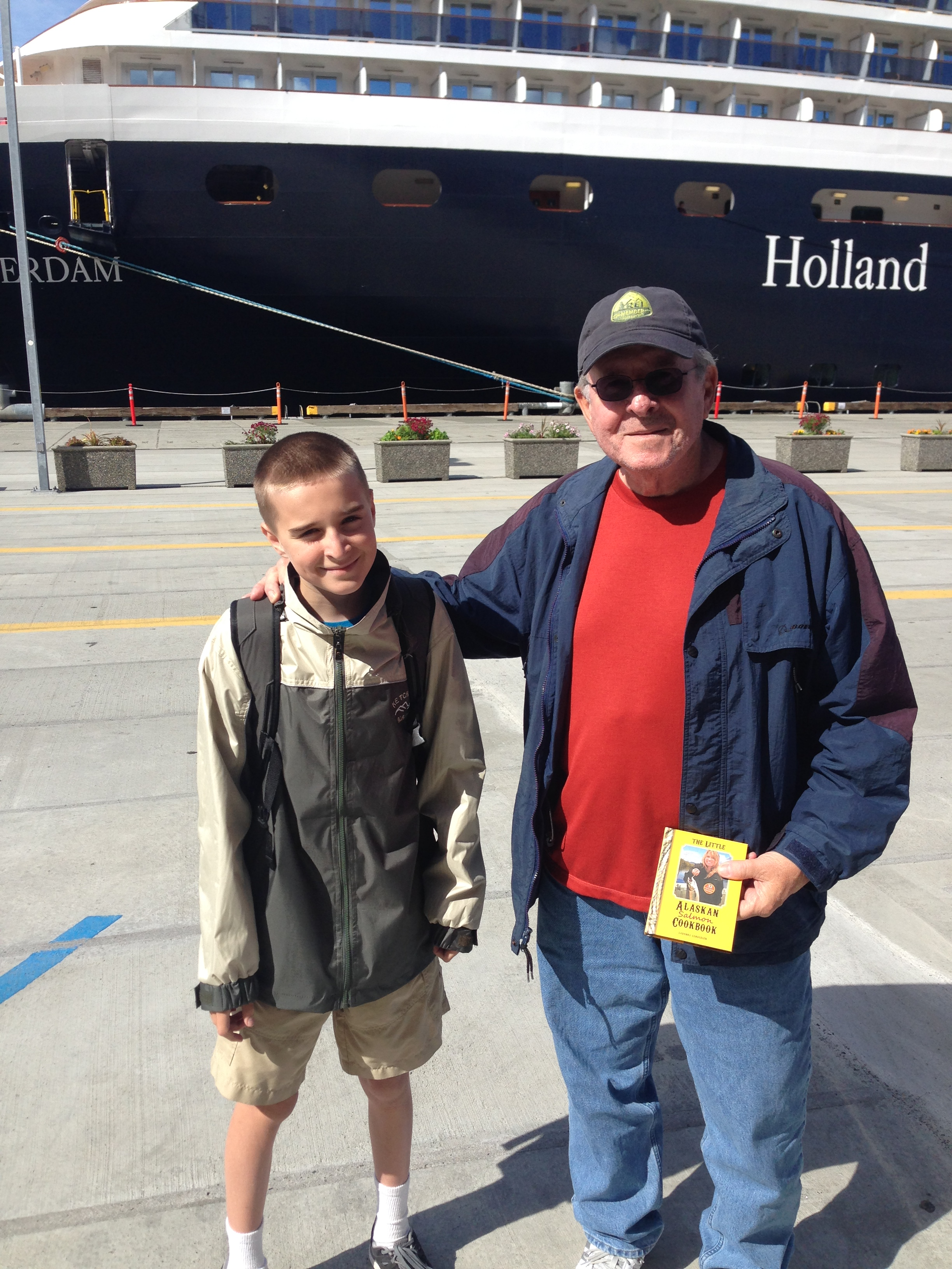 Noah and Paco in Ketchikan